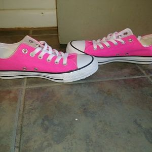 Converse All Star, hot pink, size 7